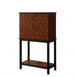 Furniture of America Murich Wine Cabinet in Cherry