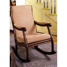 Furniture of America Rivers Rocker in Antique Oak