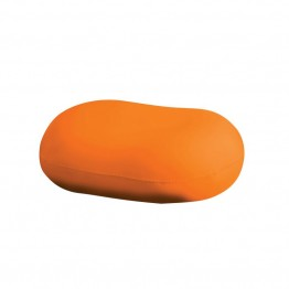 Furniture of America Zoomas Expandable Bean Bag Chair in Orange