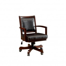 Furniture of America Spundy Adjustable Faux Leather Game Chair