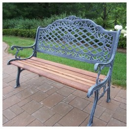 Oakland Living Mississippi High Back Bench-Antique Bronze
