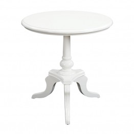 Sterling White Chapel Pedestal Table in White