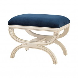 Sterling Constanzie Vanity Bench in Capuccinno Foam and Navy