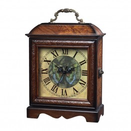 Sterling Clock in Dark Burl Gloss