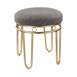 Sterling Foot Stool in Gray and Gold