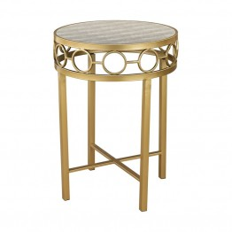 Sterling Castle Point Accent Table in Gold and Gray