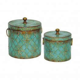 Sterling Roth Jar in Green and Rusted Bronze (Set of 2)