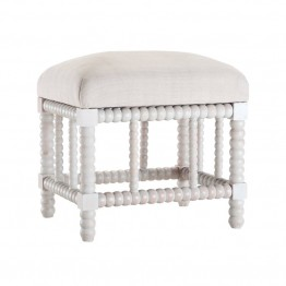 Sterling Foot Stool in Heritage Gray Stain White Wash