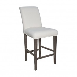 Sterling Couture Covers Bar Stool Cover in Pure White