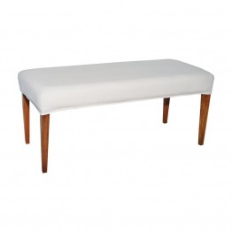 Sterling Couture Covers Bench Cover in Pure White