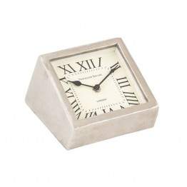 Sterling Desk Clock in Raw Aluminium