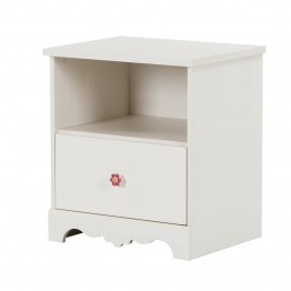 South Shore Lily Rose Nightstand in White Wash