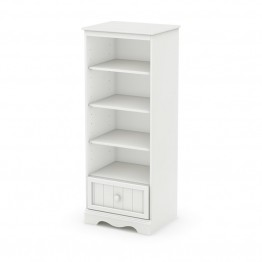 South Shore Savannah 4 Shelf Bookcase in Pure White