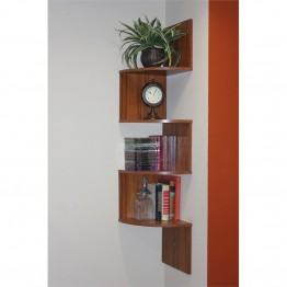 4D Concepts Hanging Corner Storage in Warm Brown