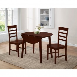 4D Concepts Harrison 3 Piece Dinette Set in Oak