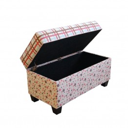4D Concepts Storage Bench in Plaid and Floral