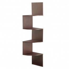 4D Concepts Hanging Corner Storage in Dark Brown