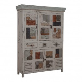 GuildMaster Artifacts Linen Cabinet in Cream
