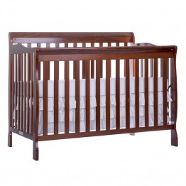 Dream On Me Ashton 5 in 1 Convertible Crib in Espresso
