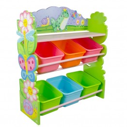 Fantasy Fields Magic Garden Kids Wooden Toy Organizer