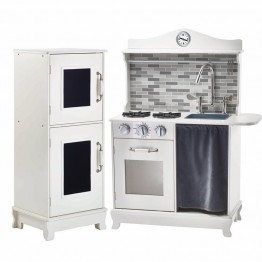 Teamson Kids Sunday Brunch Wooden Play Kitchen in White