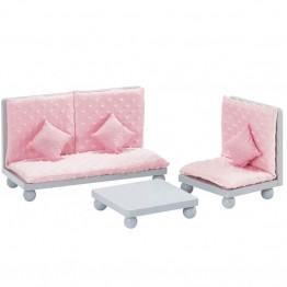 "Olivia's Little World - Princess 18"""" Doll Lounge Set in Soft Pink"