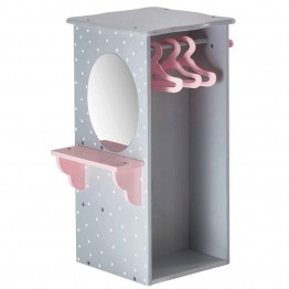 "Olivia's Little World Princess 18"""" Doll Dresser with 3 Hangers in Gray"
