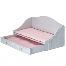 "Olivia's Little World 18"""" Doll Furniture Trundle Bed in Gray"