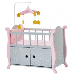 Olivia's Little World Baby Doll Furniture Nursery Crib Bed in Gray
