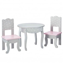 "Olivia's Little World Princess 18"""" Doll Table and Chair in Gray"