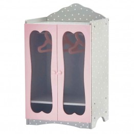"Olivia's Little World Princess 18"""" Doll Classic Wooden Closet in Gray"