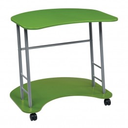 Office Star OSP Designs Computer Cart in Apple Green