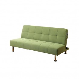 Furniture of America Hallas Linen Sleeper Sofa Bed in Green