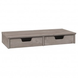 Bush Furniture Key West Desktop Organizer in Washed Gray