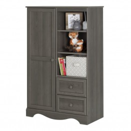 South Shore Savannah 2 Drawer Armoire in Gray Maple