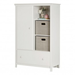South Shore Cotton Candy Armoire in Pure White