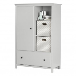 South Shore Cotton Candy Armoire in Soft Gray