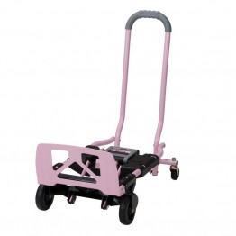 Cosco Shifter Multi-Position Folding Hand Truck and Cart in Pink