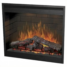 "Bowery Hill 30"""" Self Trimming Electric Firebox in Black"