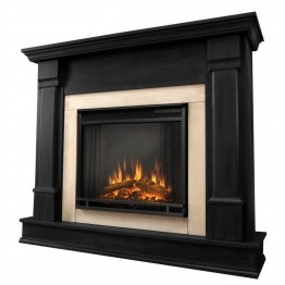 Bowery Hill Indoor Electric Fireplace in Black