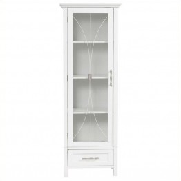 "Pemberly Row 49"""" 1-Door Linen Cabinet in White"
