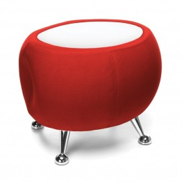 OFM Jupiter Reception Coffee Table in Red and White