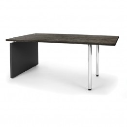 OFM Profile Series Reception Coffee Table in Asian Night and Black