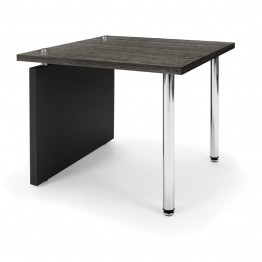 OFM Profile Series Reception End Table in Asian Night and Black