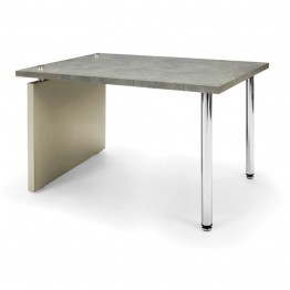 OFM Profile Series Reception End Table in Painted Screen and Gray