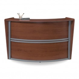OFM Marque Series Single Unit Curved Reception Desk in Cherry