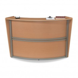 OFM Marque Series Single Unit Curved Reception Desk in Maple