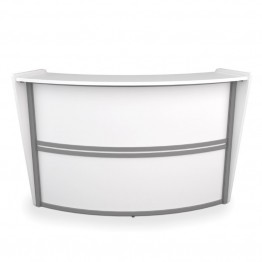 OFM Marque Series Single Unit Curved Reception Desk in White