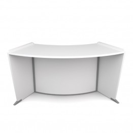 OFM Marque ADA Wheelchair Accessible Curved Reception Desk in White