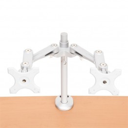 OFM Bolt Mounted Dual Monitor Arm Accessory in Silver